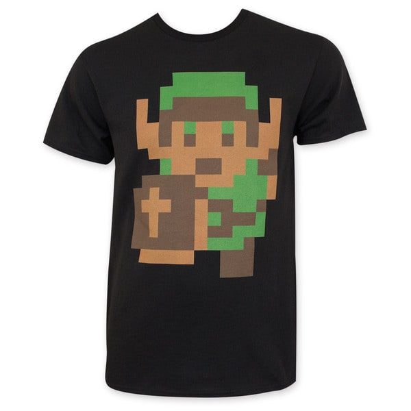 Nintendo Zelda Men's Black Pixelated Link T-Shirt