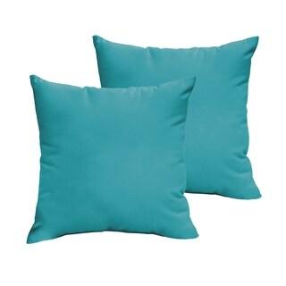 Sloane Aqua Blue 18 x 18-inch Indoor/ Outdoor Knife Edge Pillow Set