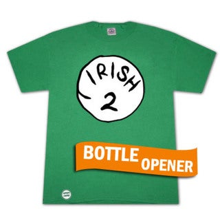 Irish 2 Bottle Opener Green Graphic T-Shirt