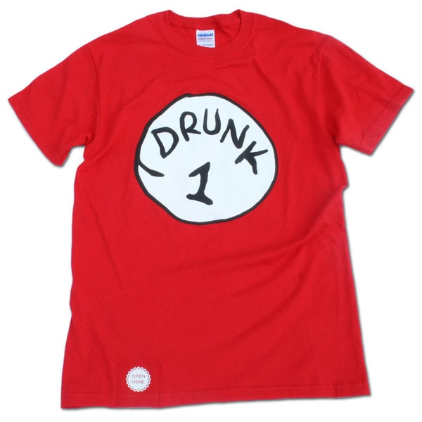 Drunk 1 Bottle Opener Red T-Shirt