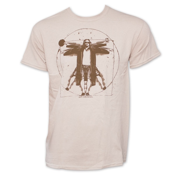 The Big Lebowski Vitruvian Da Vinci Tan Graphic T-Shirt