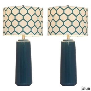 Casa Cortes Honeycomb Ceramic Table Lamp (Set of 2)