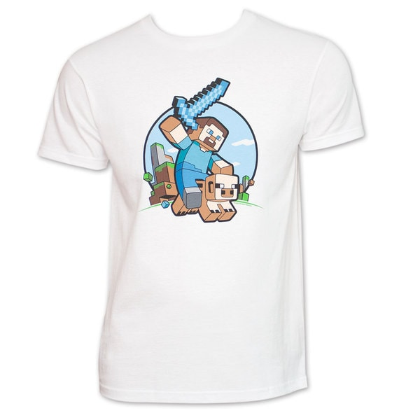Minecraft Pig Rider White T-Shirt