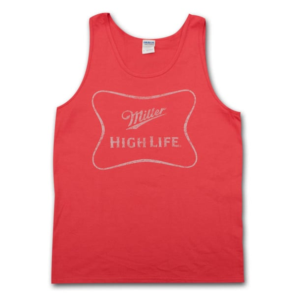 Miller High Life Faded Logo Red Men's Tank Top