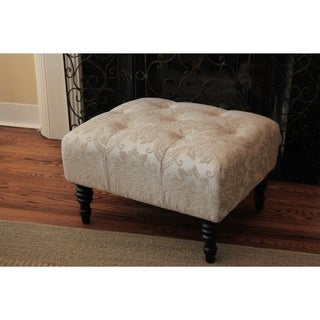 HD Couture Swansea Cream St. Honore Ottoman