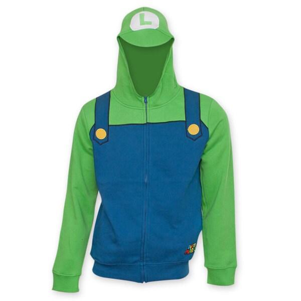 Nintendo Super Mario Bros. Luigi Costume Hoodie