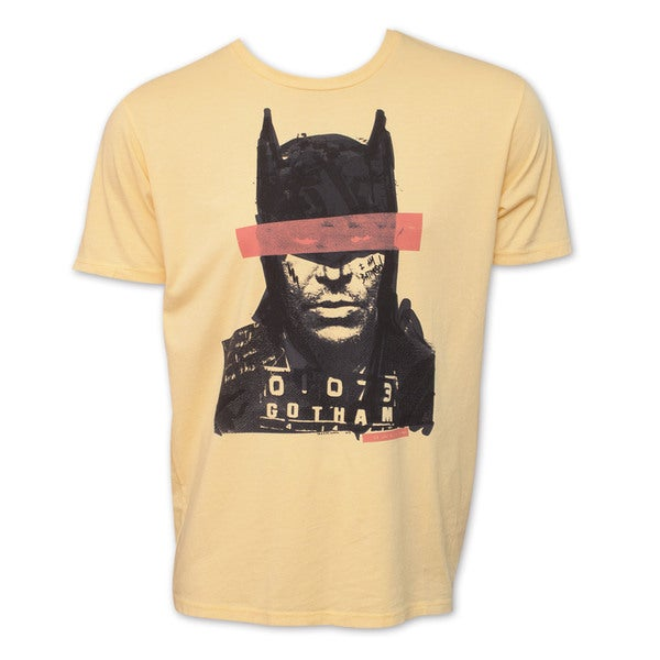 Batman Mugshot DC Comics Vintage Junk Food Brand T-Shirt 17483974