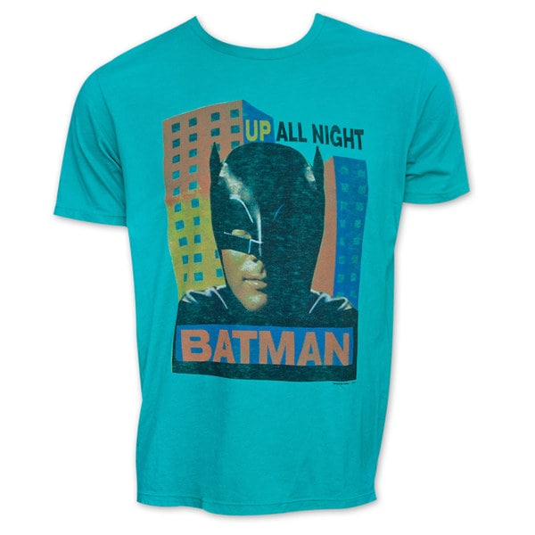 Men's Retro Batman Up All Night Junk Food T-Shirt