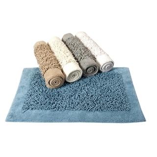 Saffron Fabs Cotton and Chenille Lima Bath Rug (Set of 2)