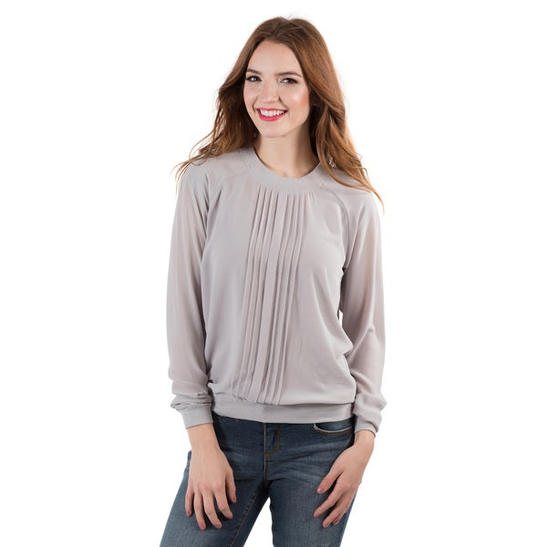 DownEast Basics Women's Pleated Front Top