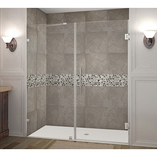 Aston Nautis 71 x 72-inch Completely Frameless Hinged Shower Door