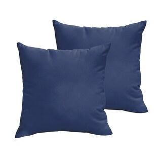 Sloane Dark Blue 22 x 22-inch Indoor/ Outdoor Knife Edge Pillow Set