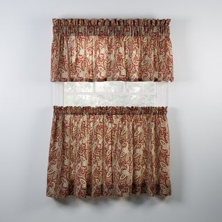 Ballard Red Tailored Tiers and Valance