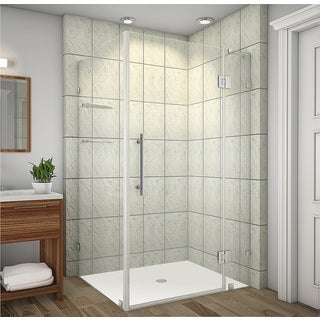 Aston Avalux GS 40 x 30 x 72-inch Completely Frameless Shower Enclosure with Glass Shelves