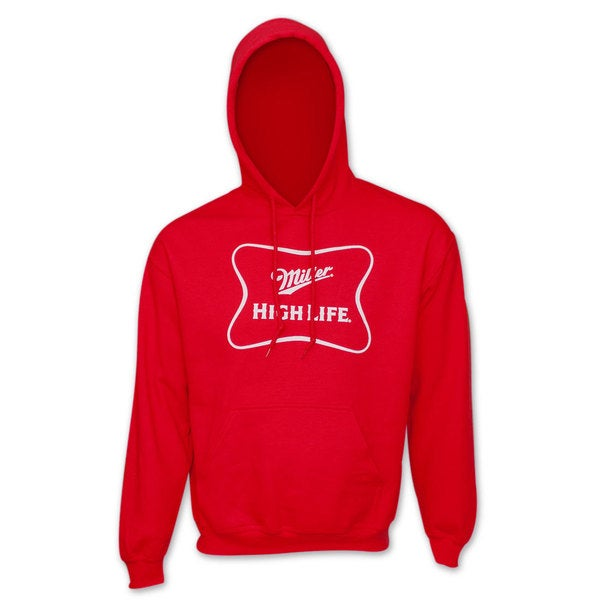 Miller High Life Logo Men's Red Hoodie
