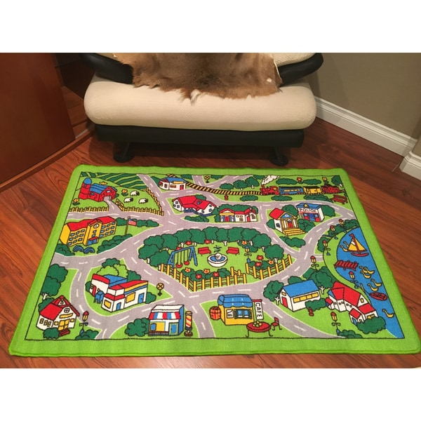"Spectrum Kids Time City Map Rug (3'3"" x 4'10"")"