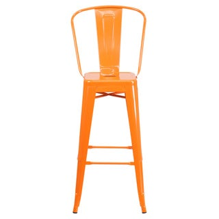 Offex 30-inch High Metal Indoor-Outdoor Restaurant Barstool