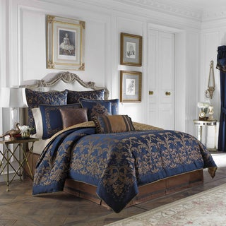 Croscill Home Monroe Blue 4-piece Comforter Set