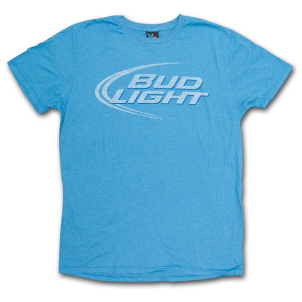 Bud Light Junk Food Faded Design Heather Blue Graphic T-Shirt