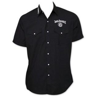 Jack Daniel's Whiskey Black Button-Up Dress Shirt