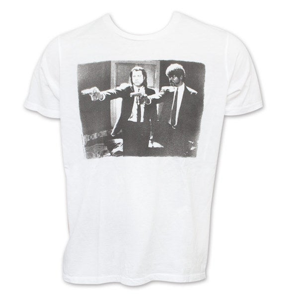 Men's Junk Food Pulp Fiction Jules Winfield Vincent Vega T-Shirt