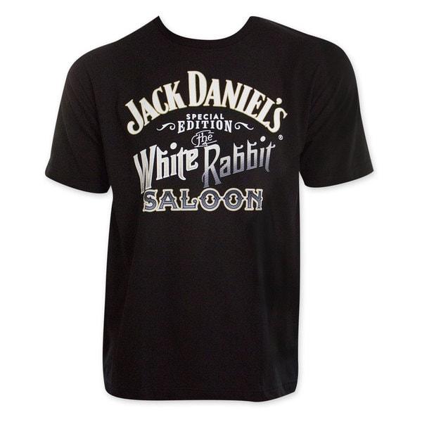 Jack Daniel's Men's White Rabbit Saloon T-Shirt