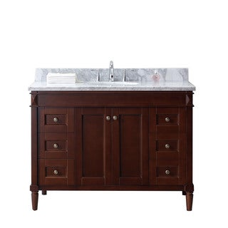 Virtu USA Tiffany 48-inch Single Bathroom Vanity Cabinet Set in Cherry