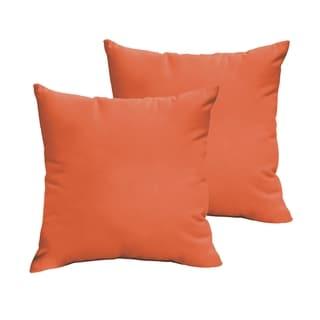 Sloane Mandarin Orange 20 x 20-inch Indoor/ Outdoor Knife Edge Pillow Set