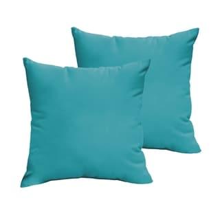 Sloane Aqua Blue 20 x 20-inch Indoor/ Outdoor Knife Edge Pillow Set