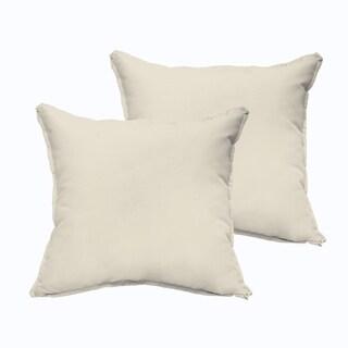 Sloane Ivory 20 x 20-inch Indoor/ Outdoor Flange Edge Pillow Set