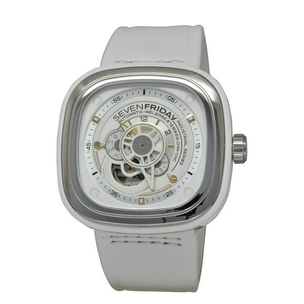 SevenFriday Men's P1-2 Industrial Essence White Watch
