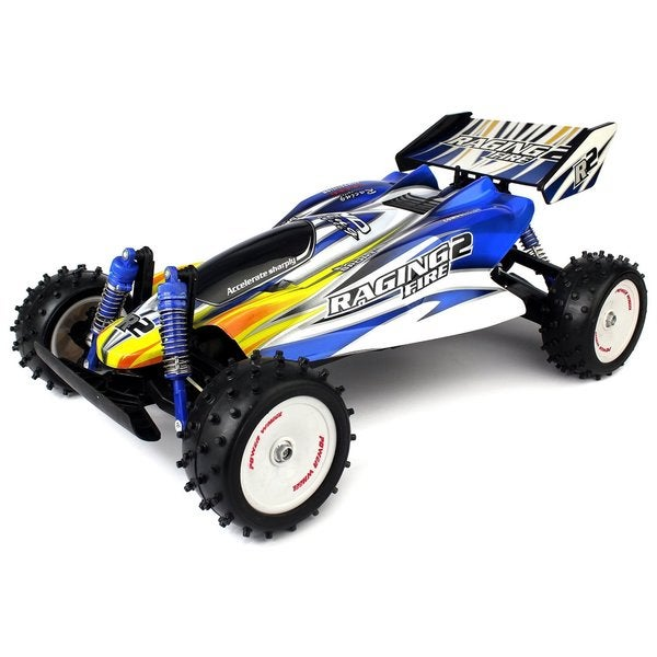 Velocity Toys Raging Fire Turbo 1:8 Scale 18 MPH Ready To Run Remote Control RC Off-road Buggy (Colors May Vary)