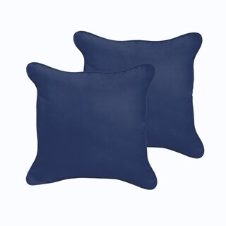 Sloane Dark Blue 20 x 20-inch Indoor/ Outdoor Corded Edge Pillow Set