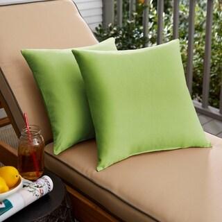Sloane Apple Green 18 x 18-inch Indoor/ Outdoor Knife Edge Pillow Set