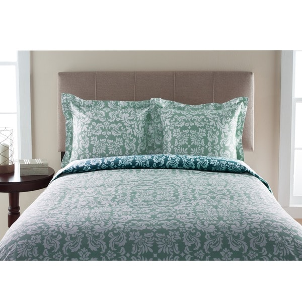 300TC Canterbury Scroll 100-percent Cotton Duvet Cover Set