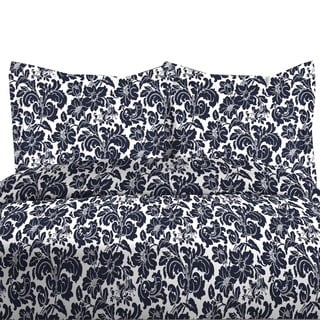 300TC Avalon Print 100-percent Cotton Duvet Cover Set