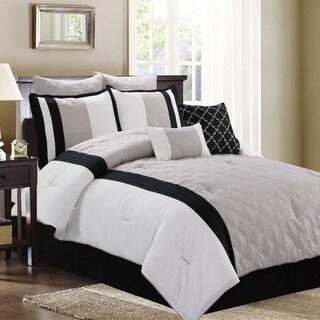 New Hope Taupe 8-Piece Comforter Set
