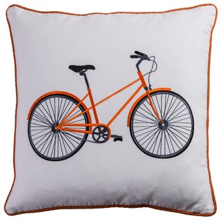 Vintage Bicycle 20 x 20 Throw Pillows by Rizzy Home