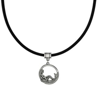 Jewelry by Dawn Round Mermaid Greek Leather Cord Necklace
