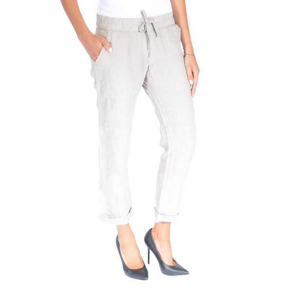 True Religion Women's Linen Cargo Pants