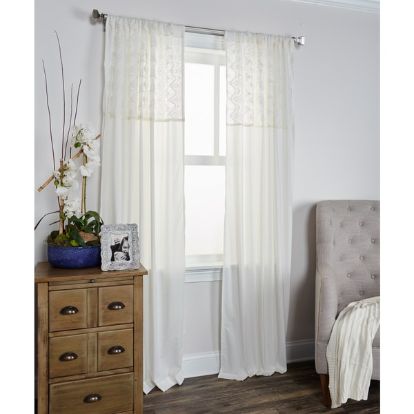 Arden Loft Coquette Collection Ivory Window Panel