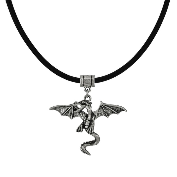 Jewelry by Dawn Flying Dragon Greek Leather Cord Necklace