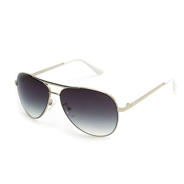GUESS GF0139 Silver Metal Round Frame Men's Sunglasses