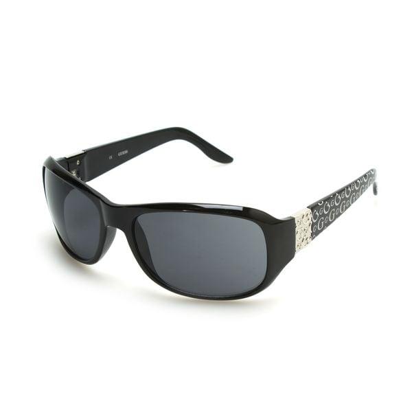 GUESS GU6395 Black Plastic Round Frame Women's Sunglasses