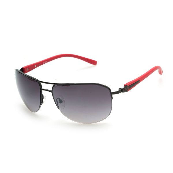 GUESS GU6717 Red Metal Round Frame Men's Sunglasses