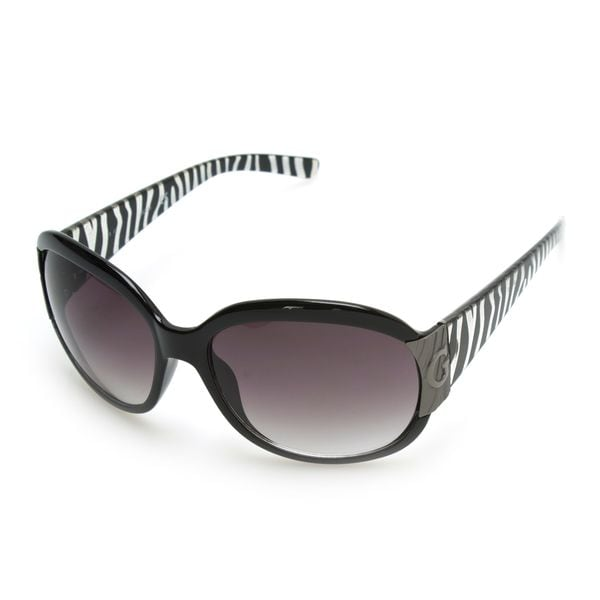 GUESS GU7002 Black Plastic Round Frame Women's Sunglasses