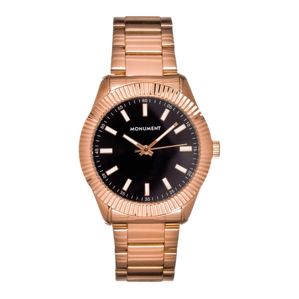 Monument Men's MMT4610 The Exec Fluted Bezel Watch