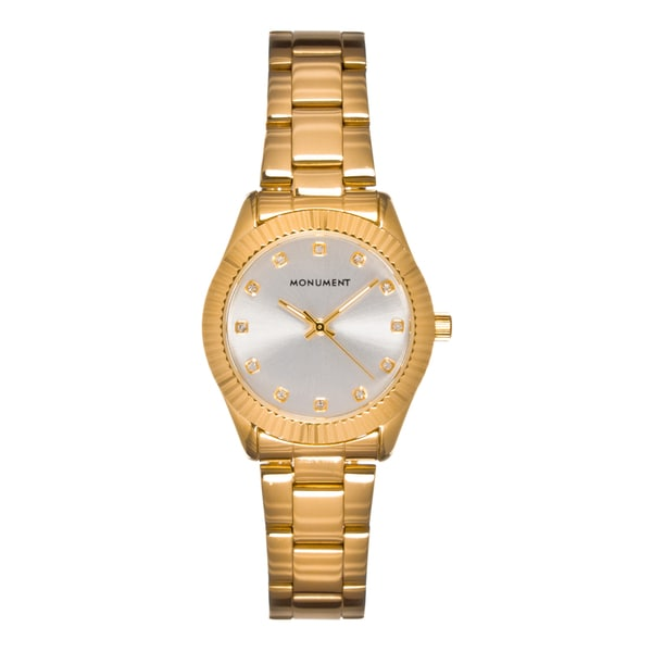Monument Women's MMT4636 Kensington Fluted Bezel Quartz Watch