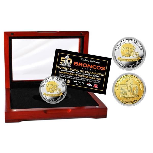 Denver Broncos Super Bowl 50 Champions Two-Tone Mint Coin