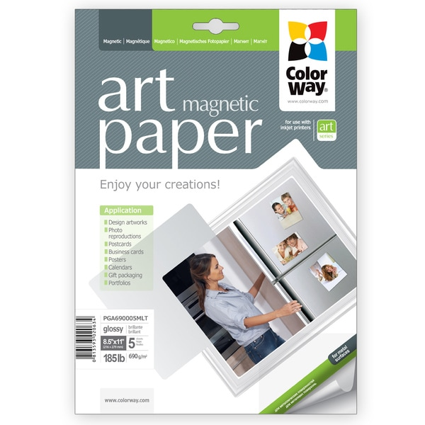 Art Glossy ColorWay Photo Paper Magnetic 8.5-inch x 11-inch 5 sheets